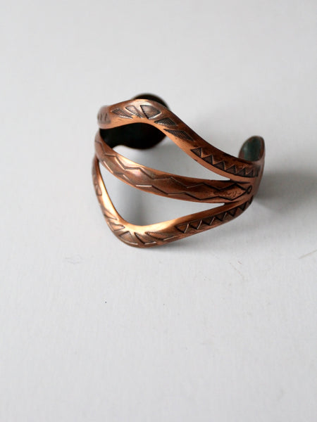 vintage Mexican wide copper cuff