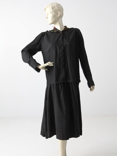 antique drop waist dress