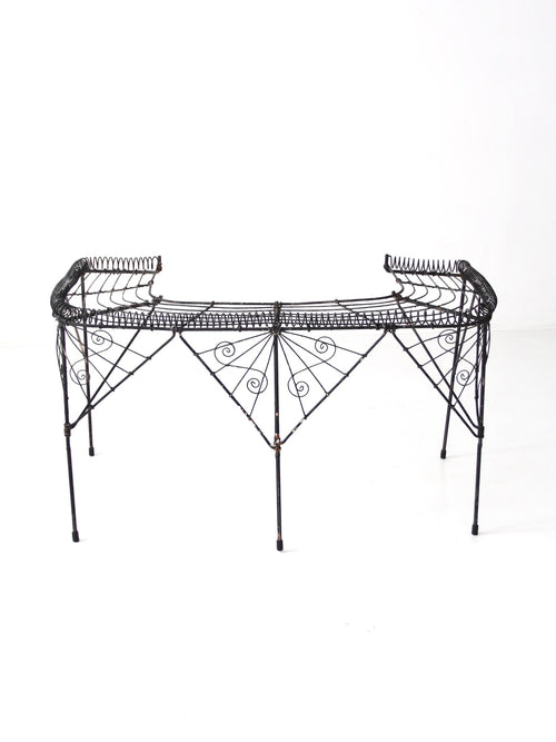 Victorian wire plant stand
