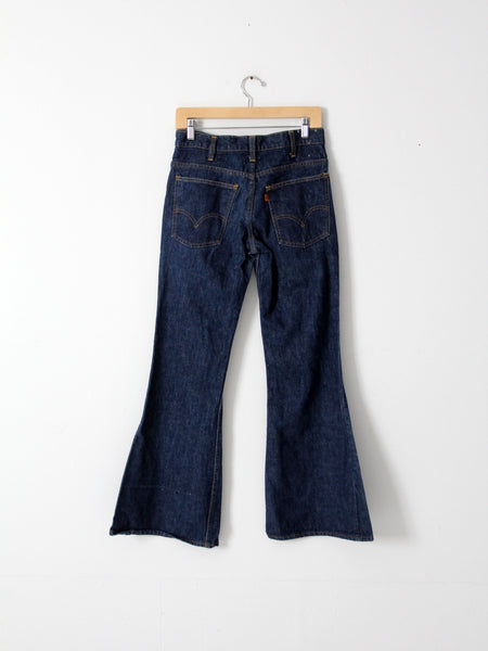 vintage Levis 684 denim bell bottom jeans, 30 x 31