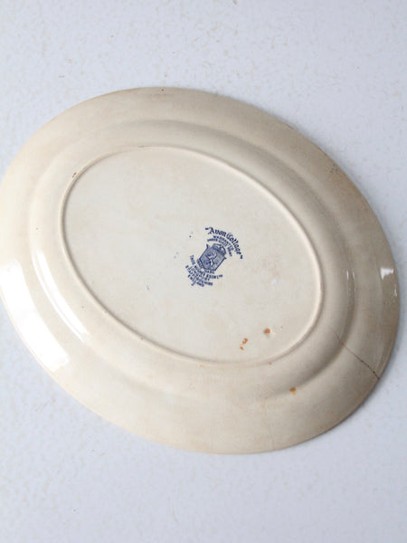 English transferware serving platter circa 1930