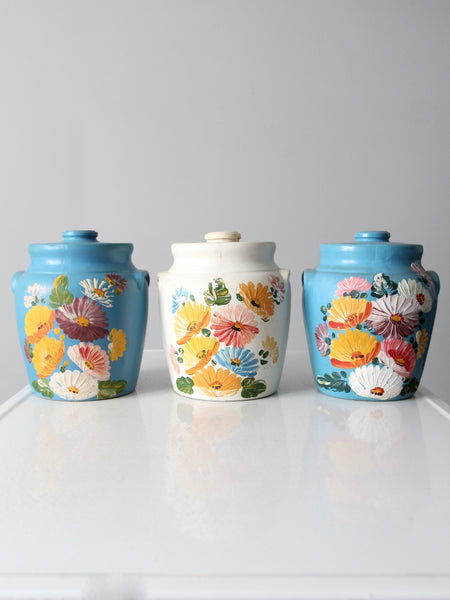 Ransburg Pottery cookie jar collection of 3