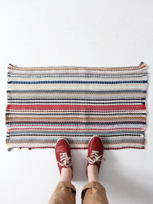 vintage striped accent rug