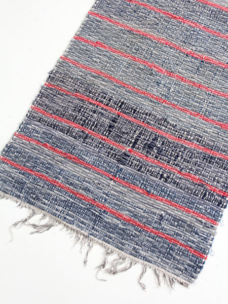 vintage striped rag rug runner
