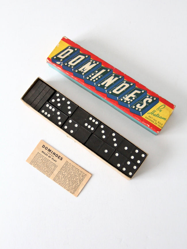 Halsam dominoes circa 1950s