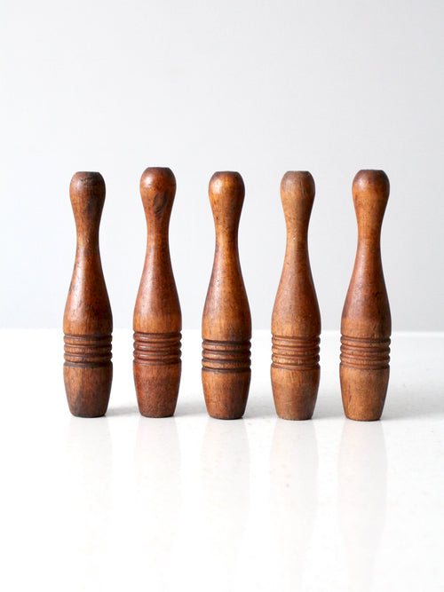 antique wooden skittles