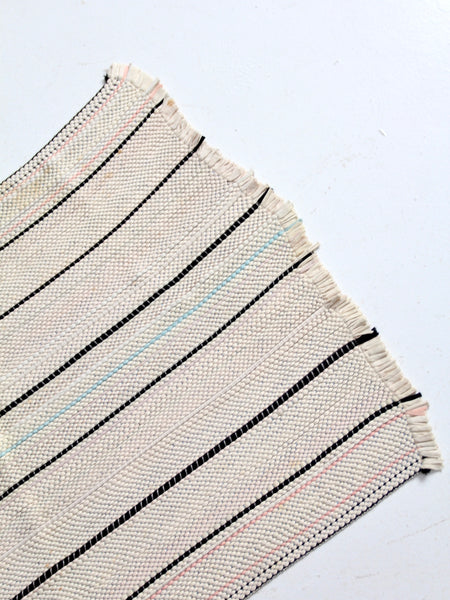 "vintage striped throw rug 33"" x 23"""