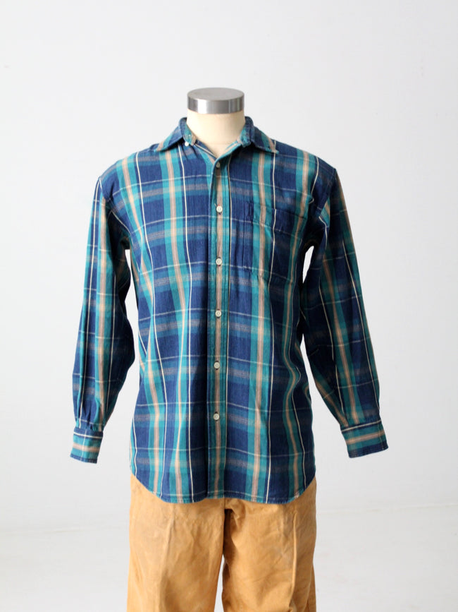 vintage John Ashford plaid shirt
