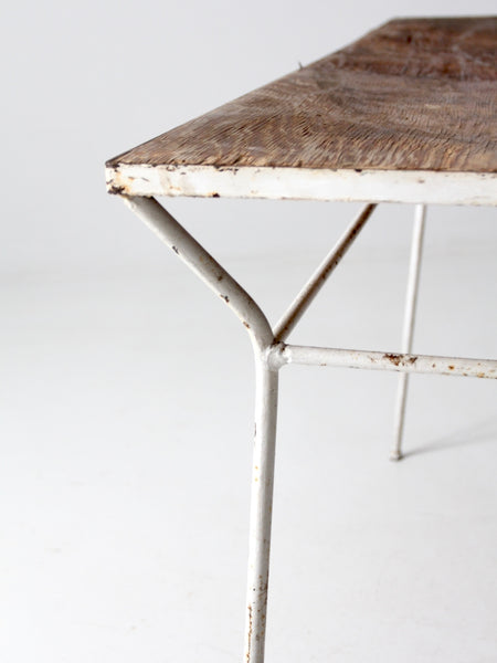 mid-century patio table