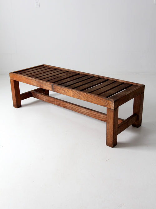 vintage slat wood coffee table or bench