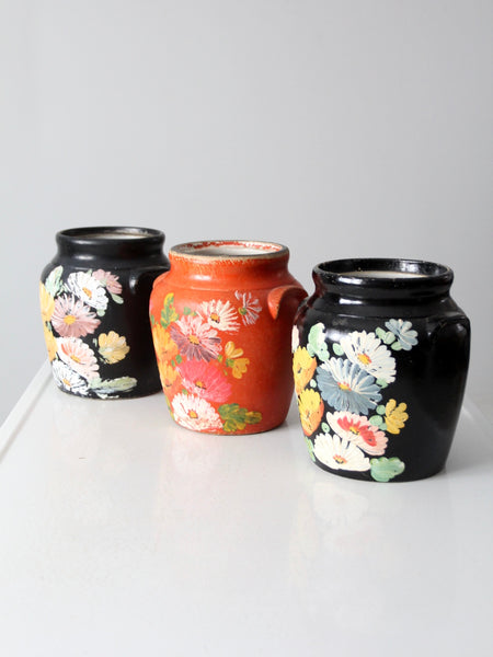 vintage Ransburg pottery cookie jars - set of 3