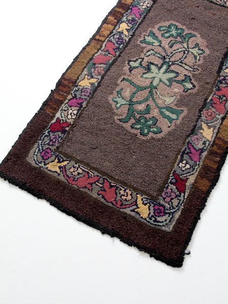 antique hooked rug