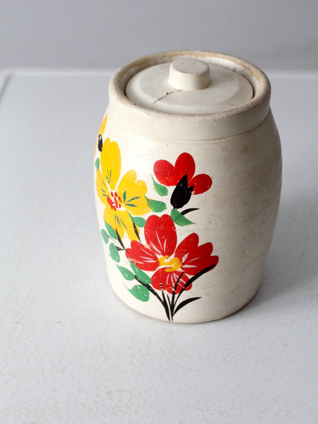 vintage hand-painted stoneware cookie jar