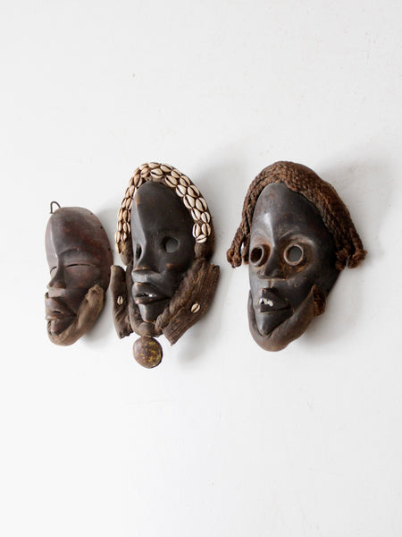 vintage African Dan tribal mask collection