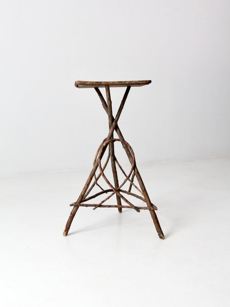 antique Adirondack twig table