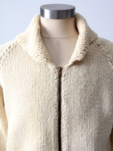 vintage 50s cowichan style sweater
