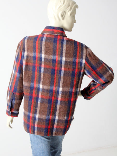 vintage 70s plaid woolly shirt