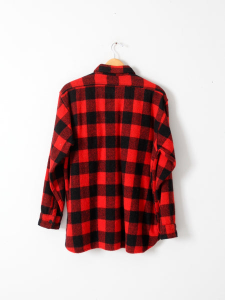 vintage 60s Montgomery Ward buffalo plaid shirt