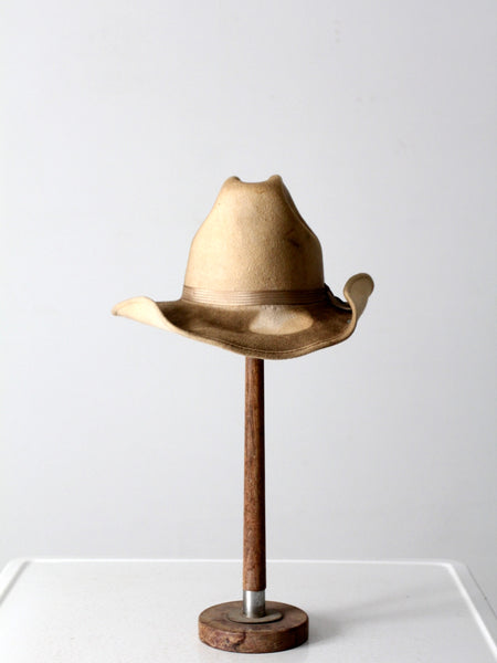 vintage Eddy Bros distressed cowboy hat