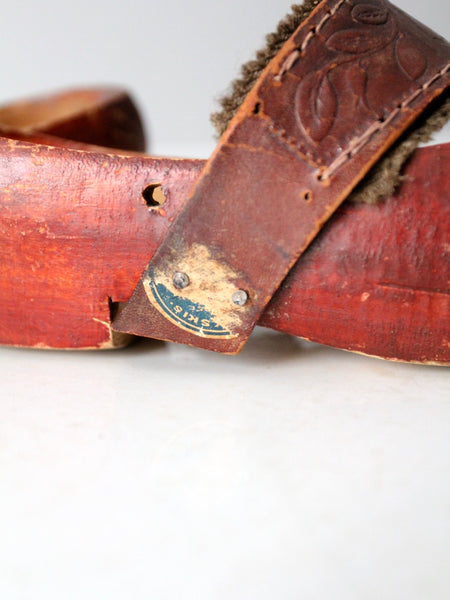 vintage folk art clogs
