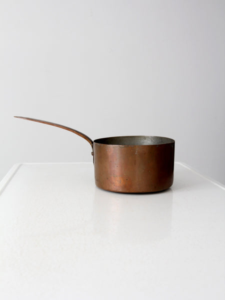 antique copper sauce pot