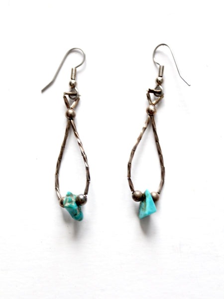 vintage turquoise drop earrings