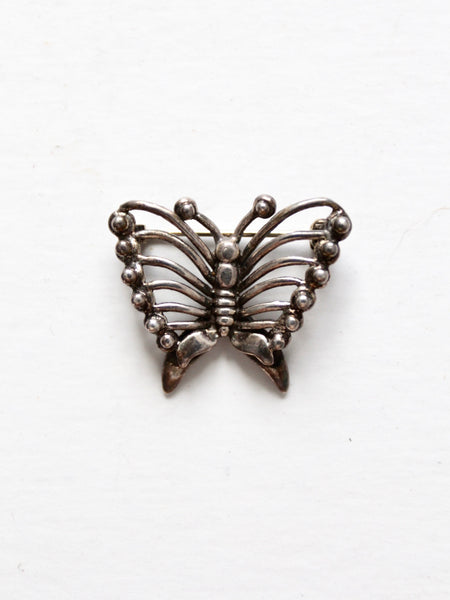 vintage brass leaves brooch