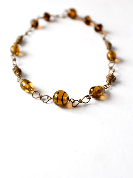 vintage amber necklace