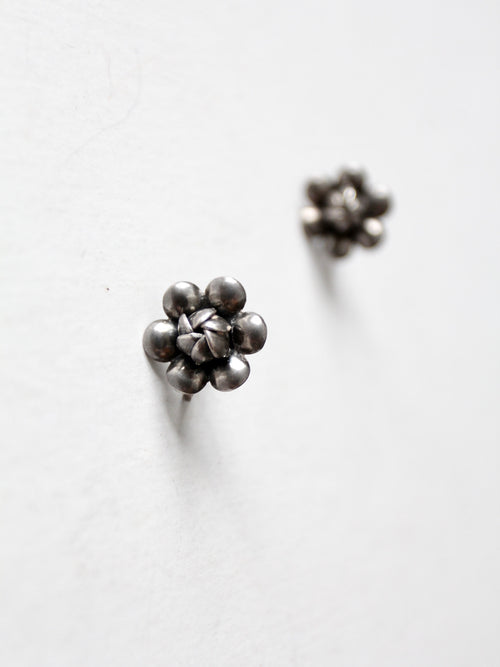 vintage sterling silver floral earrings