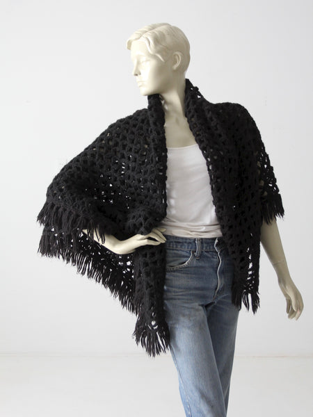 vintage crotchet wrap shawl
