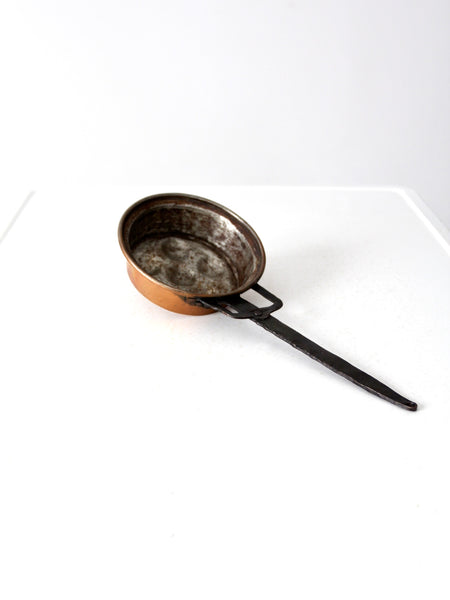 antique copper escargot pan