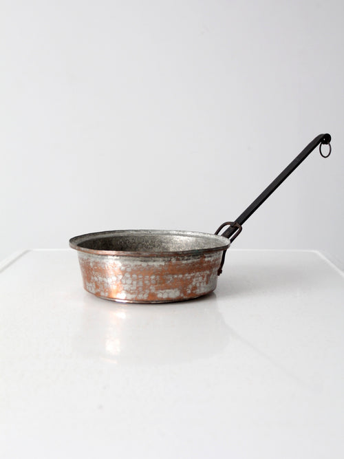 antique hammered copper pan