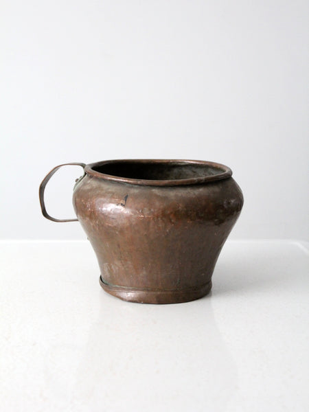 antique copper jug pot