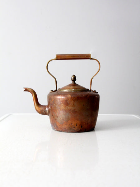 antique Ansonia Brass Company kettle