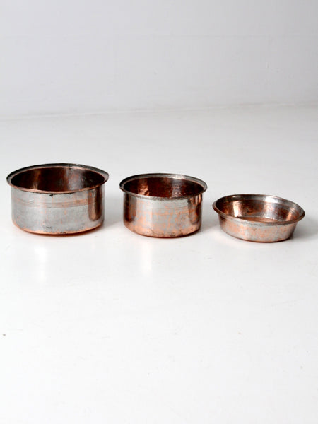 antique copper basin bowls set/3