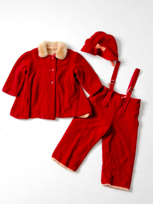 antique children's winter outfit