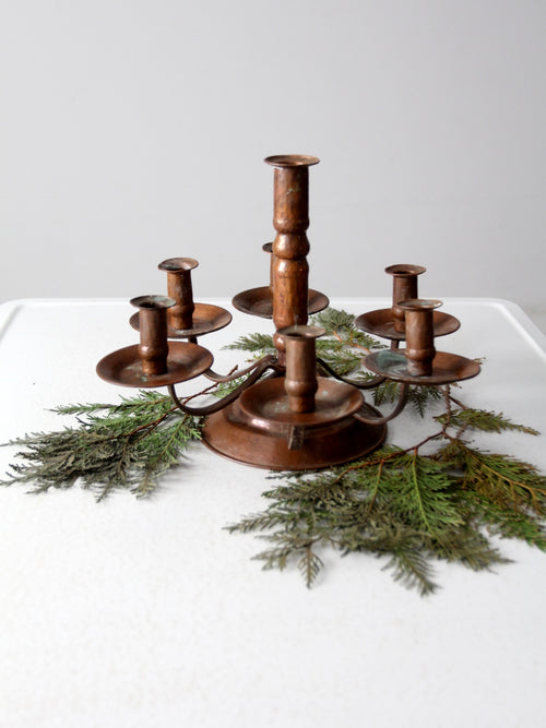 antique copper candelabra