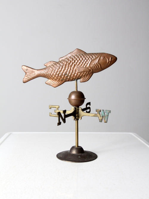 vintage copper fish weathervane