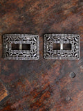 antique French shoe buckles