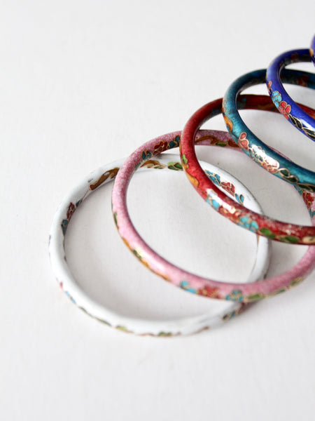 vintage cloisonne bangle collection