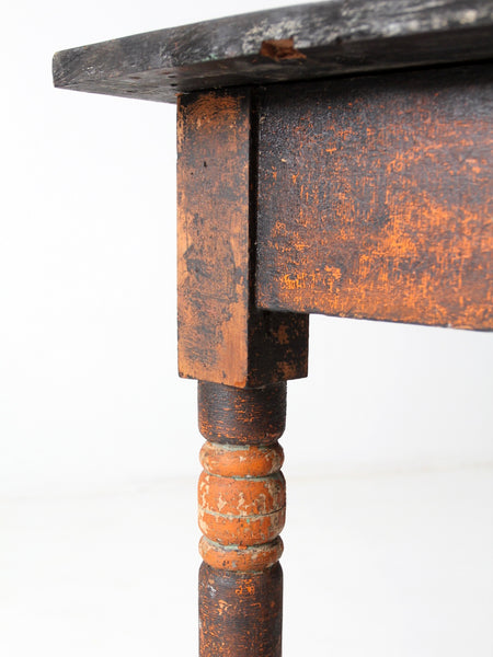 antique primitive end table with drawer