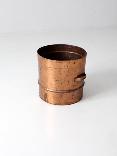 antique copper sieve pot