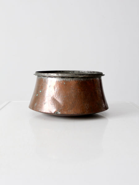 antique copper cauldron