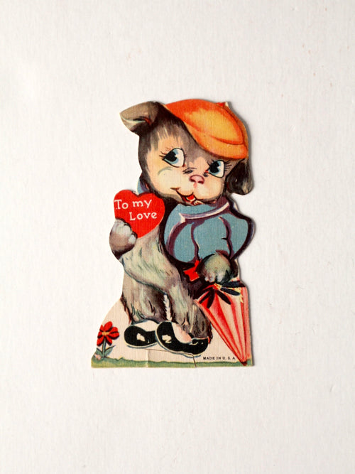 vintage 1930s Valentine's Day card