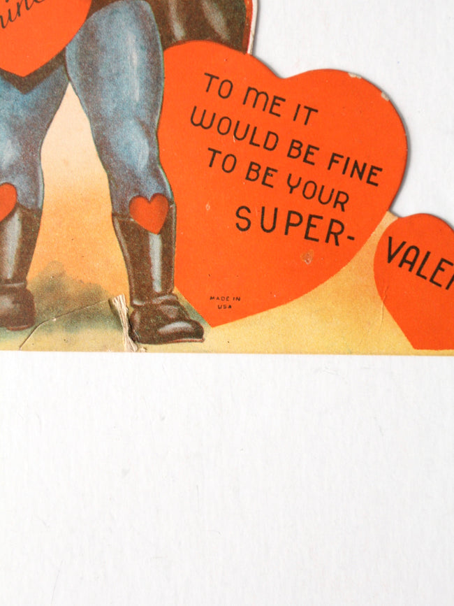 vintage Superman Valentine's card
