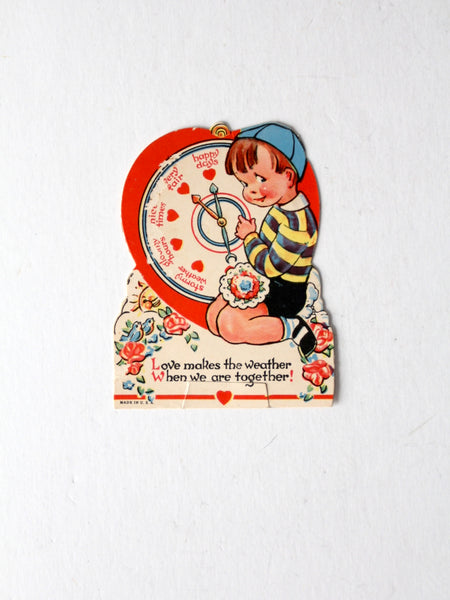 vintage 1930s Valentine's Day stand up card