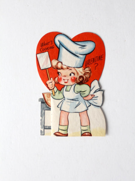 vintage 40s Valentine's Day fold out card