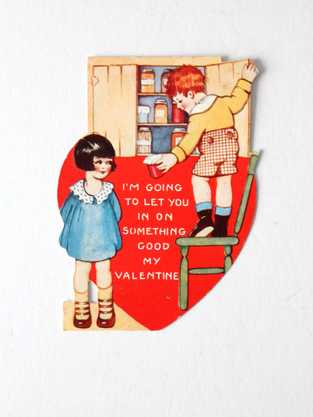 vintage Valentine's Day embossed card circa 1920s