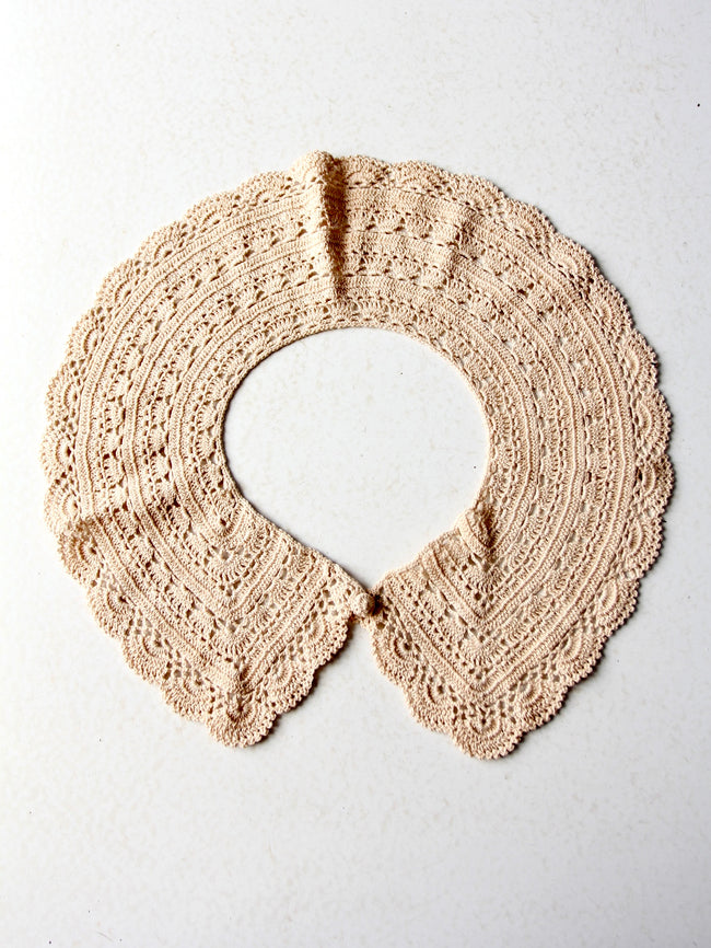 antique lace crotchet collar