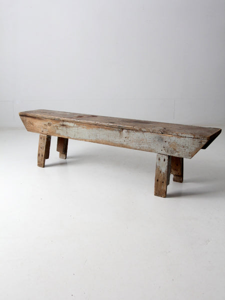 antique primitive wood bench
